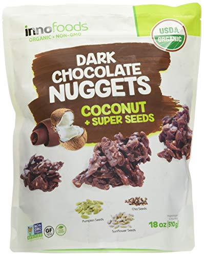 Innofoods Organic Dark Chocolate Nuggets with Coconut & Super Seeds