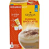 Gevalia Pumpkin Spice Latte Espresso K-Cup Coffee Pods and Froth Packets (6 Pods and Froth Packets)