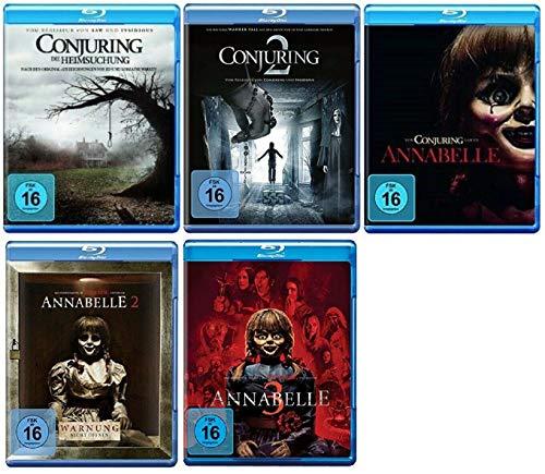 Conjuring Teil 1+2 + Annabelle Teil 1+2+3 [Blu-ray Set] 5 Horror Filme Paket