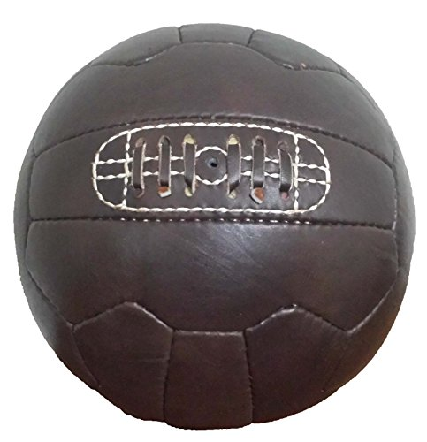NTF vintage-retro-classic-leather-football-soccerballサイズ5、ブラウン