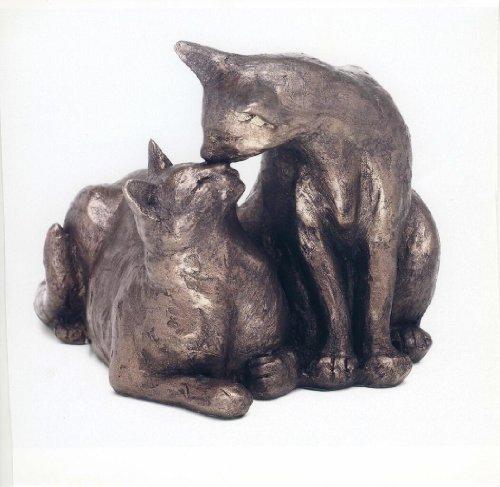 'Felix et Oscar'Sculpture de chat en Bronze de Paul Jenkins by Frith Sculpture