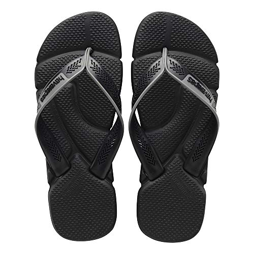 Havaianas Herren Power Zehentrenner, Schwarz (Black/Steel Grey), 45/46 EU