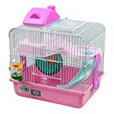 DI ZE LIN PET HOME S.L DZL Jaula para hamster 27*21*25cm caseta rueda...
