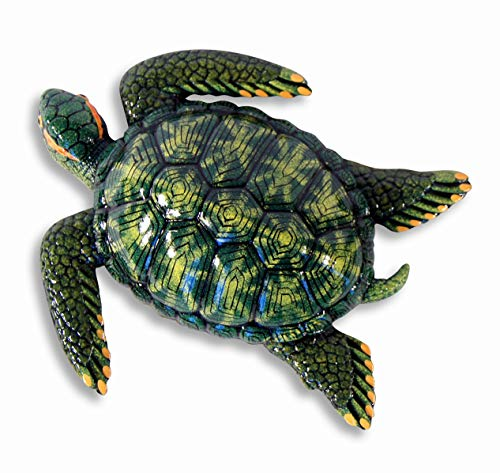 Handpainted Green Tropical Sea Turtle Beach Tiki Bar Wall Mount Decor Plaque Kid Decor 8'