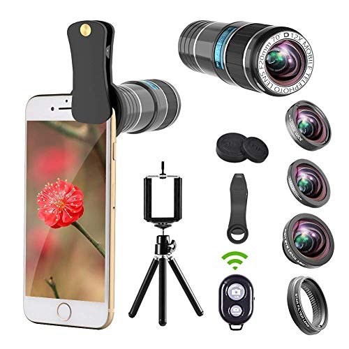 iPhone Camera Lens, 12x Telephoto Lens +...