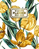 18 Month Planner 2021-2022: Beautiful Tulip Weekly Calendar with Holidays, To-Do Lists, Vision Boards, Notes | Organizer, Agenda, Diary | Pretty Floral Pattern