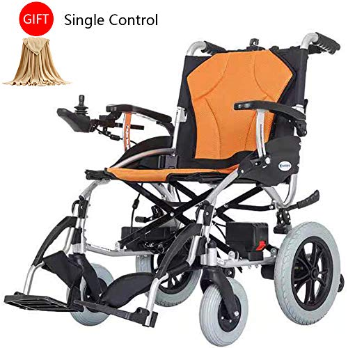 Fantastic Deal! Wheelchairs Dual Motor Mobility Aid, Lightweight Foldable Electric with Automatic Br...