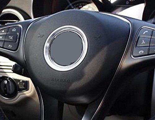 FFZ Parts Lenkrad Emblem Alu Ring Durchmesser 58 mm Silber Passend Für A Klasse B Klasse CLA GLA AMG