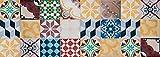 VINILIKO Vintage Tiles Tapis en Vinyle Multicolore 50 x 140 cm