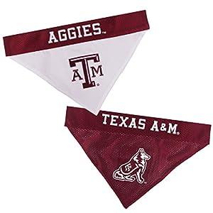 Pets First Collegiate Pet Accessories, Reversible Bandana, Texas A&M Aggies, Small/Medium