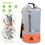 Rocontrip Waterproof Dry Bag, Roll Top Dry Compression Dry Sack with Detachable Shoulder