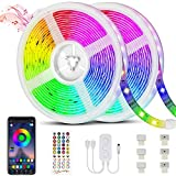 Bonve Pet 20M Tiras LED RGB 5050, Bluetooth Musical Tiras LED 600 LEDs Tiras de Luces LED Iluminación, Control de APP y Remoto...