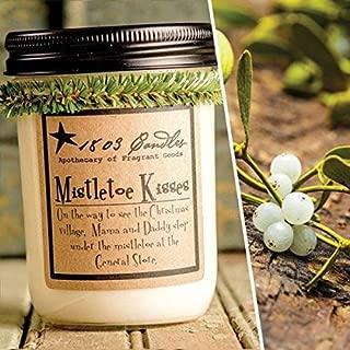mistletoe kisses candle