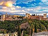 DFGJ Puzzle Granada con Alhambra 3000 Piezas (110 * 87 cm)