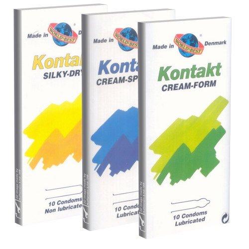 World's Best Paquete especial de Kontakt: 3 x 10 condones de Danmark (Sedoso, Crema Forma, Especial)