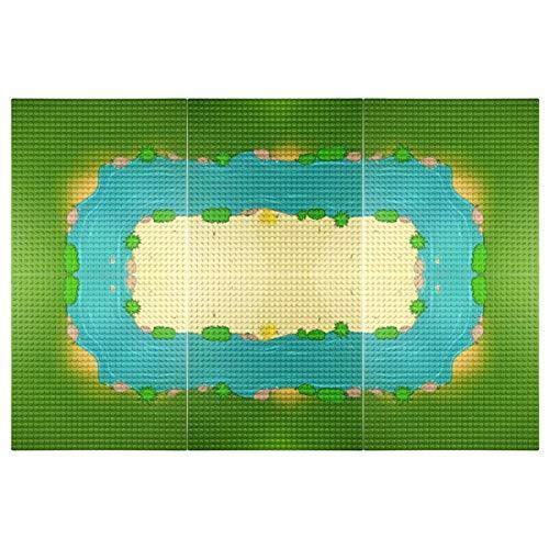 WANBAO Kids Toys 6pcs Bloque de construcción de Bloques de Base Isla Placas de Base del río para pequeños Ladrillos de construcción de partículas, Juguetes de construcción 32 * 32 cm (Color : Type 1)