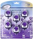 Air Jungles Lavender Zen Scent Car Air Freshener Clip, 6 Car Freshener Vent Clips, 4ml Each, Long Lasting Air Freshener for Car, Up to 180 Days Car Refresher Odor Eliminator