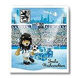 Premium Schoko-Adventskalender – Der lustige Weihnachts-Countdown aus Fairtrade-Kakao + Mannschaftsposter/Fanposter (200 g) (TSV 1860 München)