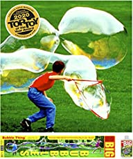 BUBBLETHING Big Bubbles Kit Includes Giant Wand, Big Bubble Mix, & Games to Play. Bubbles Biggest by Far (See Our Videos.) 2020 Top Toy.