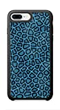 VUTTOO Case for Apple iPhone 8 Plus 5.5inch (Not Fit 4.7inch) - Leopard Hide Blue Case - Shock Absorption Protection Phone Cover Case