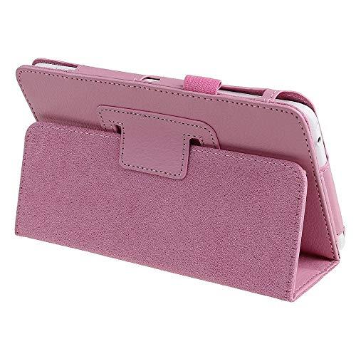 Funda para Samsung Galaxy Tab 3 7.0 modelos GT-P3200 SM-T211 T210 T215 Flip PU Funda de piel con función atril P3200 7.0 Cap-T210 P3200, color rosa