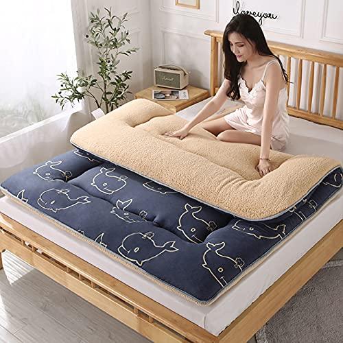 CYMX Pieghevole Tatami Materassino, Materasso da Pavimento Giapponese Materasso Futon, Materassino Materasso per Dormitorio Pavimento per Bambini,Quattro Stagioni Disponibile