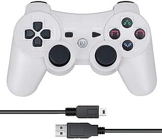 PS3 コントローラー ワイヤレスコントローラ 無線 ゲームパッド PS3 ハンドル Bluetooth ワイヤレス ゲームパッド Bluetooth ゲームパッド 6軸センサー 人間工学 PlayStation 3コントローラー 振動機能 充...