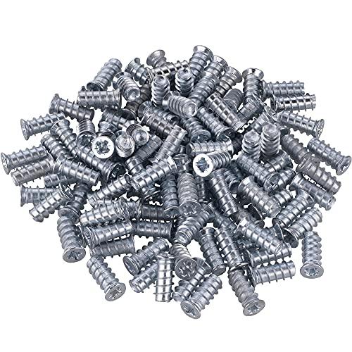 Gedotec Spezialschraube VARIANTA Möbel-Schraube mit Vollgewinde | 6 x 13,5 mm | Bohrung Ø 5 mm | Euroschrauben für Auszüge - Schubladenschienen & Orgaline | 100 Stück - Verbindungsschrauben Holz