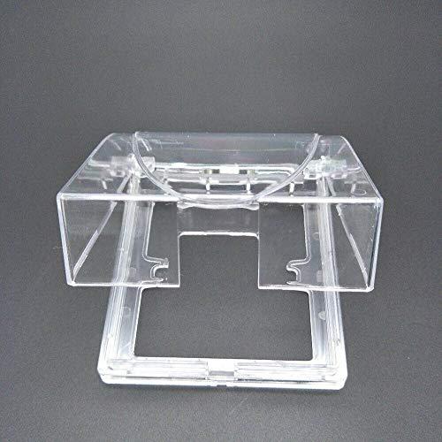 Supertool - Cubierta protectora impermeable para enchufe de pared, 2 unidades, universal, tipo 86, transparente
