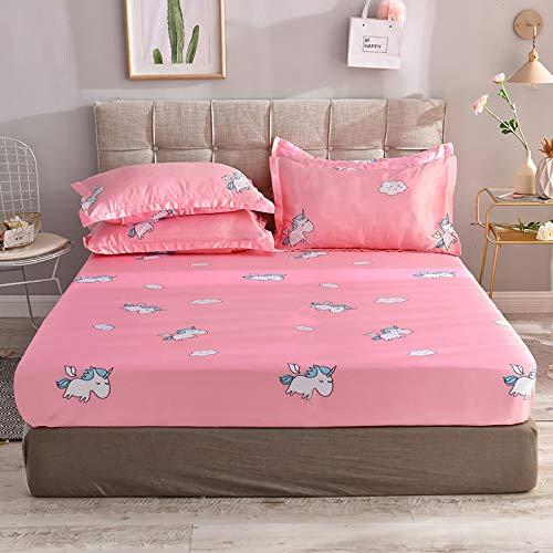 Xiaomizi Sábanas, sábanas, camas individuales, camas dobles150X200cm Funda de colchón+2 fundas de almohada