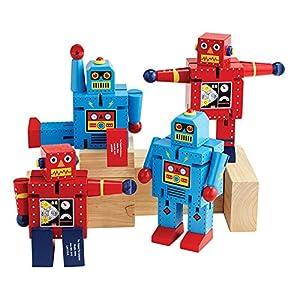 Becker's School Supplies Giant Wood Robots Set, (Set of 4) - 51IayKHr6hL - Becker's School Supplies Giant Wood Robots Set, (Set of 4)