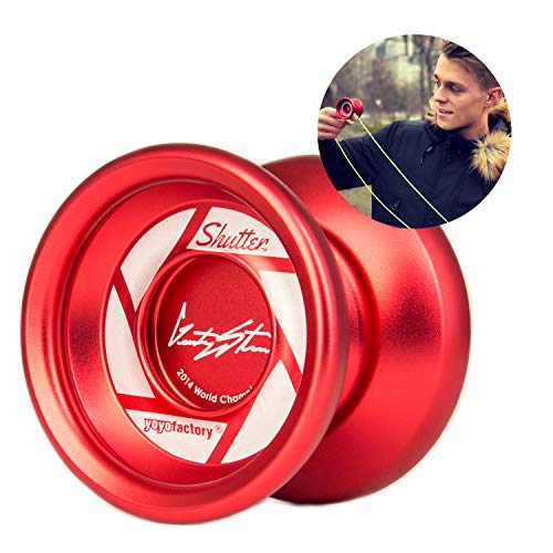 "YOYO FACTORY YoyoFactory Shutter - Rosso (Yo-Yo del Campione del Mondo ""Gentry Stein"", Corda e Istruzioni Incluse)"