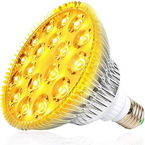 MILYN LED Pflanzenlampe E27 54W Sonnenähnliche Vollspektrum Pflanzenlampen Pflanzenleuchte LED Grow Lampe Pflanzenlicht für Garten Gewächshaus Zimmerpflanzen Hydroponik, Blüte, Blumen und Gemüse