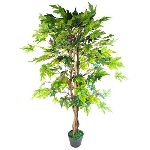 Leaf 125cm Artificial Acer Tree Black Plastic Pot Design UK, Japanese Maple