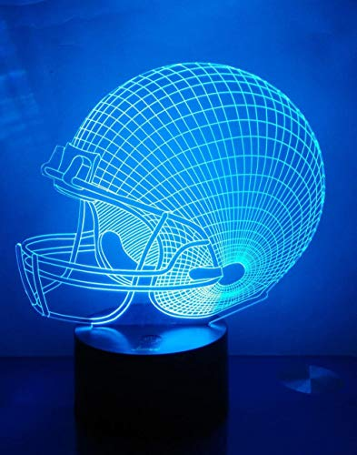 Regalos para niños, casco de fútbol G 3D ilusión lámpara de escritorio, lámparas de habitación de niños, mejor festival regalo de cumpleaños para niños pequeños y niños