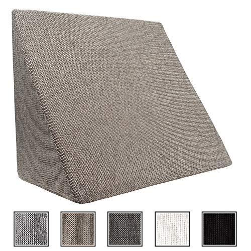 XL Almohada de cuña para sala de estar y dormitorio, cojín de lectura,...
