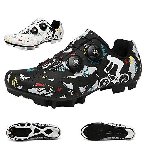 Ciclismo Zapatos,Zapatillas De Ciclismo Profesional Unisex Ciclismo, Zapatos Al Aire Libre Tienen...