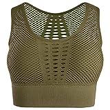 UMIPUBO - Sujetador deportivo sin aros, top de push up bustier, para mujer, deportivo, bandeau y pastillas extraíbles para gimnasio, correr, yoga, etc. Gn L
