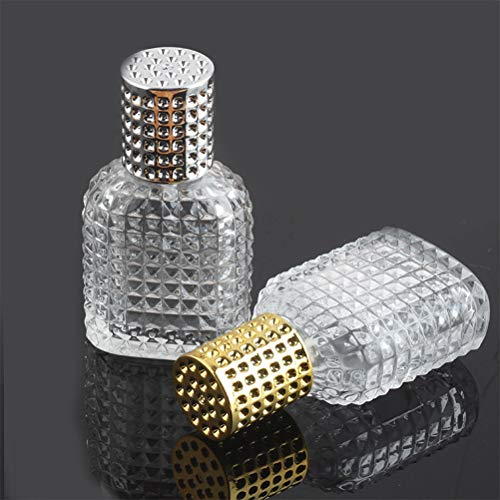 Urhomy 香水瓶 スプレーボトル 香水詰め替えボトル 香水スプレーボトル アトマイザークリスタルガラスボトル アート 空の香水瓶 透明 ガラス ポータブル クイック 香水噴霧器 携帯用 詰め替え容器 香水用 ワンタッチ