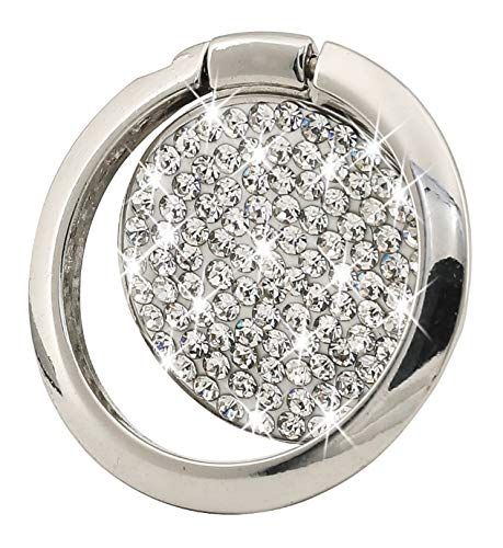 Cell Phone Finger Ring Holder, GREATQIQI Bling Crystals Phone Kickstand, 360