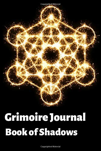 Grimoire Journal - Book of Shadows: Blank Spell Record Notebook cum Alchemy Pattern Spell Book