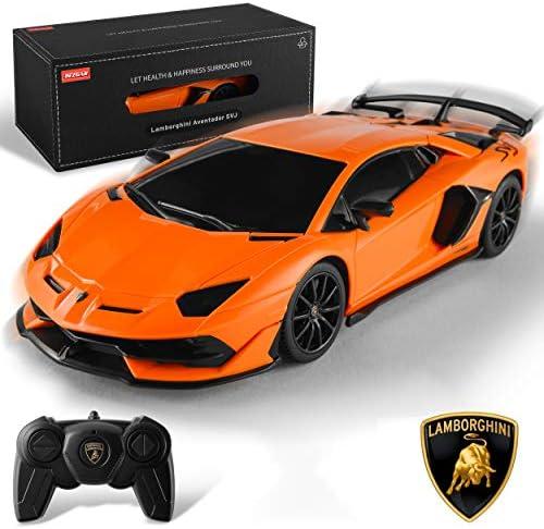 BEZGAR Officially Licensed RC Series 1 24 Scale Remote Control Car Lamborghini Aventador SVJ product image