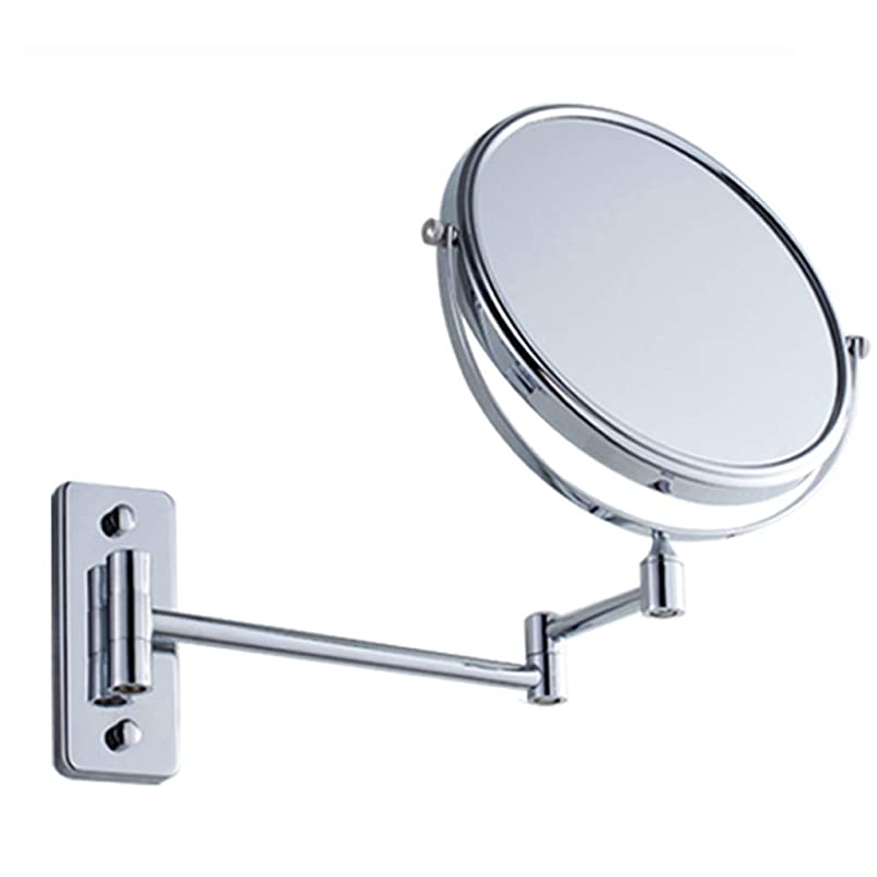 勘違いする不利参加者HUYYA シェービングミラー 壁付、バスルームメイクアップミラー 3 倍拡大鏡 バニティミラー 両面 化粧鏡 360度回転 寝室や浴室に適しています,Silver_6inch