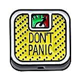 lijun Dibujos Animados Lindo Don't Panic báscula de aleación Broche Mini Pines...