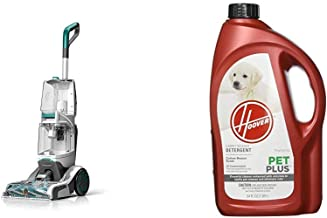 Hoover Smartwash Automatic Carpet Cleaner, FH52000, Turquoise & PETPLUS Concentrated Formula, 64oz Pet Stain and Odor Remo...