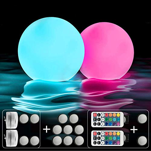 IOKUKI Pool Toys 16'' Inflatable Ball Light Up Beach Ball with RC, 13 Colors/4 models/10 Grade...
