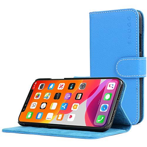 Snugg Cover iPhone 11 Pro, Apple iPhone 11 Pro Flip Custodia Case [Slot Per Schede] Pelle Portafoglio Progettazione Esecutiva [Garantita a Vita] - Blu Elettrico, Legacy Range