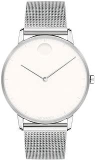 FACE Stainless Steel Case, Mesh Bracelet, Optic White Dial, Men, 3640006