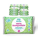 Mum & You 100% Biodegradable Vegan Registered Plastic Free Baby Wet Wipes with Recyclable Packaging, Pack of 12, (672…