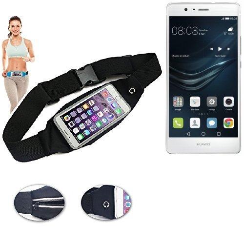 Preisvergleich Produktbild K-S-Trade Für Huawei P9 Lite Gürteltasche Umhängetasche Bauchtasche Schwarz Sport Running Jogging Fitness Laufen Exercise Schutzhülle Für Huawei P9 Lite
